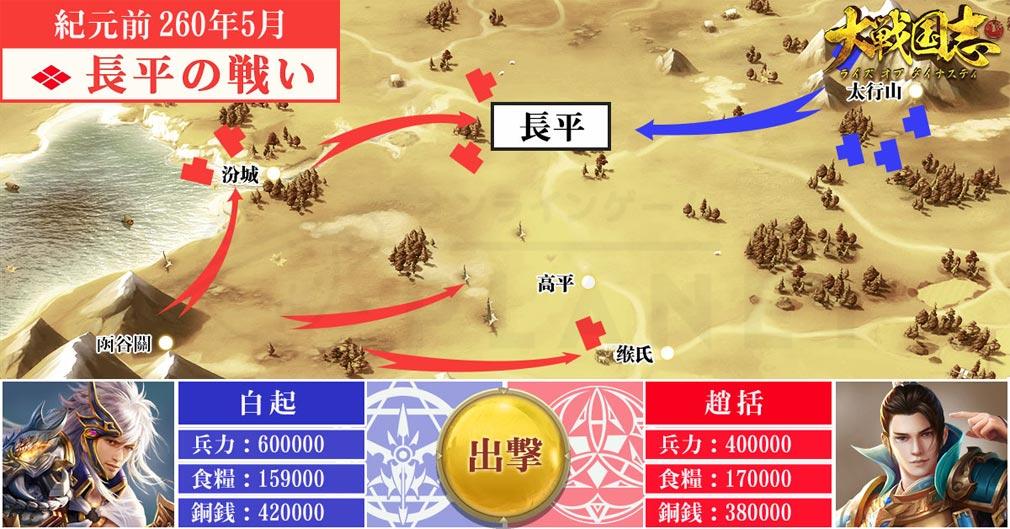大戦国志ライズオブダイナスティ 史実にあった『長平の戦い』紹介イメージ
