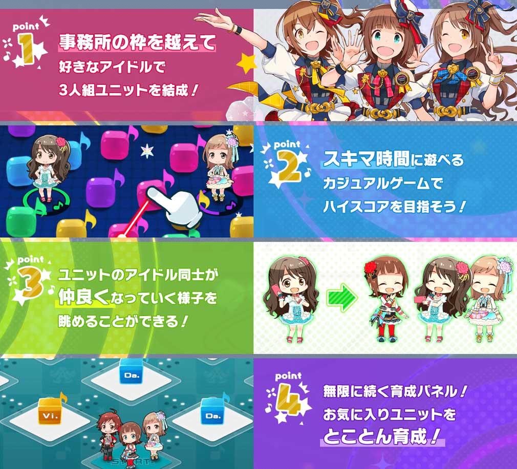 アイドルマスター ポップリンクス(ポプマス) ゲーム概要紹介イメージ