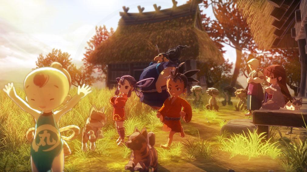 天穂のサクナヒメ 日本だからこそ楽しめる春夏秋冬、四季折々の美麗グラフィックの風景スクリーンショット
