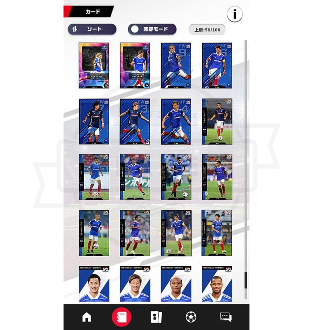 Jリーグ デジタルトレカコレクション カード収集スクリーンショット