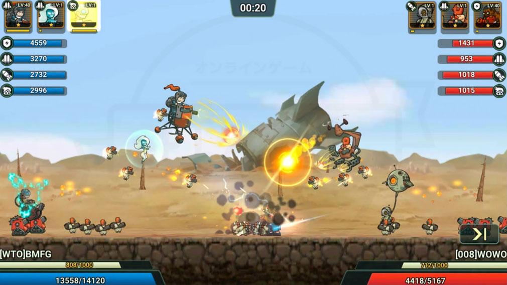 Wasteland Lords 荒野領主 (ウェイスロ) 改造したメカでバトルするスクリーンショット