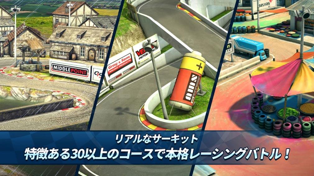 ミニモレーシング2(MMR2) 『リアルなサーキットコース』紹介イメージ