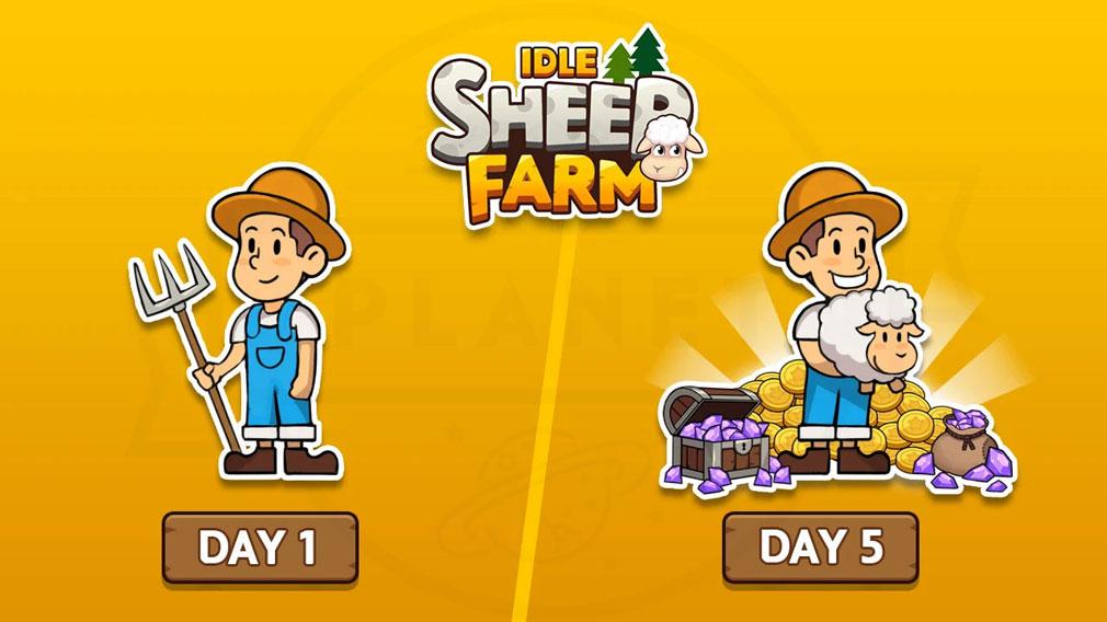 Sheep Farm(シープファーム) 収入を増やしていく紹介イメージ