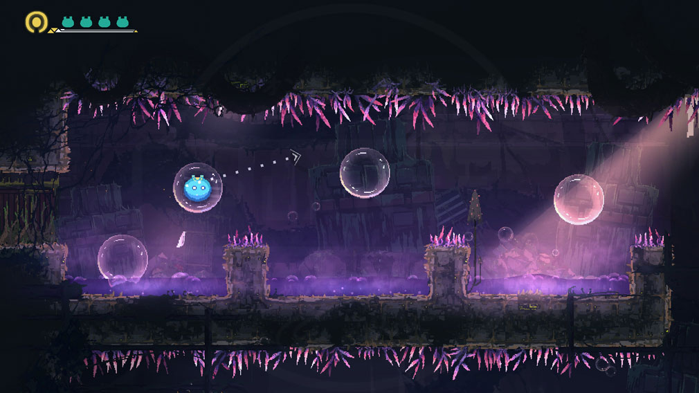 MO Astray 主人公『MO』が特性を活用してトラップをクリアするスクリーンショット