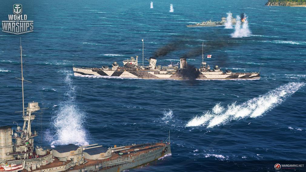 World of Warships(WoWs) リアルタイムオンライン海上バトルスクリーンショット