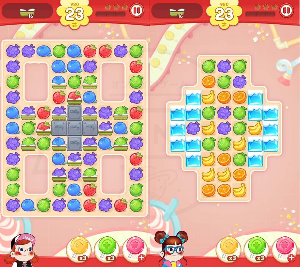 ペコポップ マッチ3パズル 可愛いパズルステージプレイスクリーンショット
