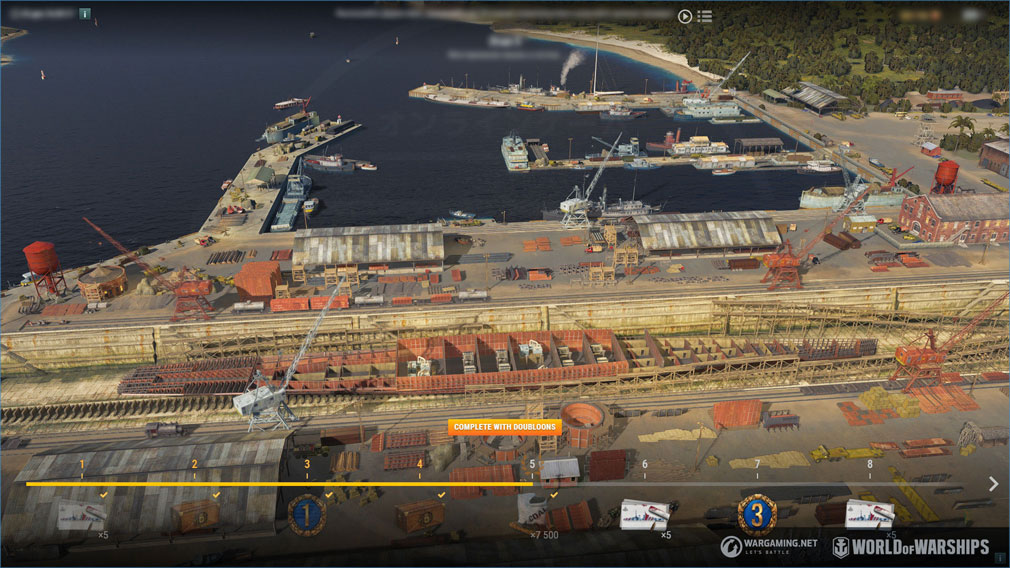 World of Warships(WoWs) フェーズ構成された『造船所』スクリーンショット