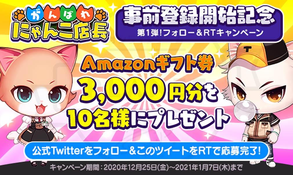 がんばれ!にゃんこ店長 Amazonギフト券が当たるキャンペーン紹介イメージ