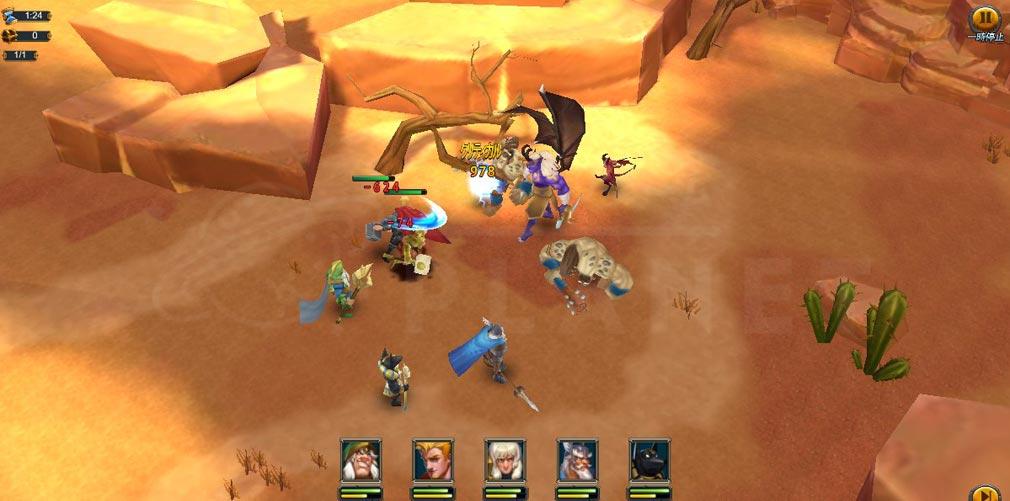ロードオブザウォー 王国バトル PCブラウザ版対戦プレイスクリーンショット