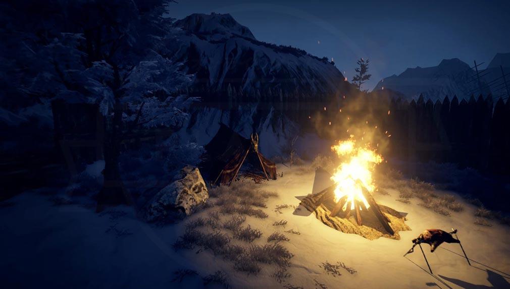 Outward(アウトワード) テントを張って野営するスクリーンショット
