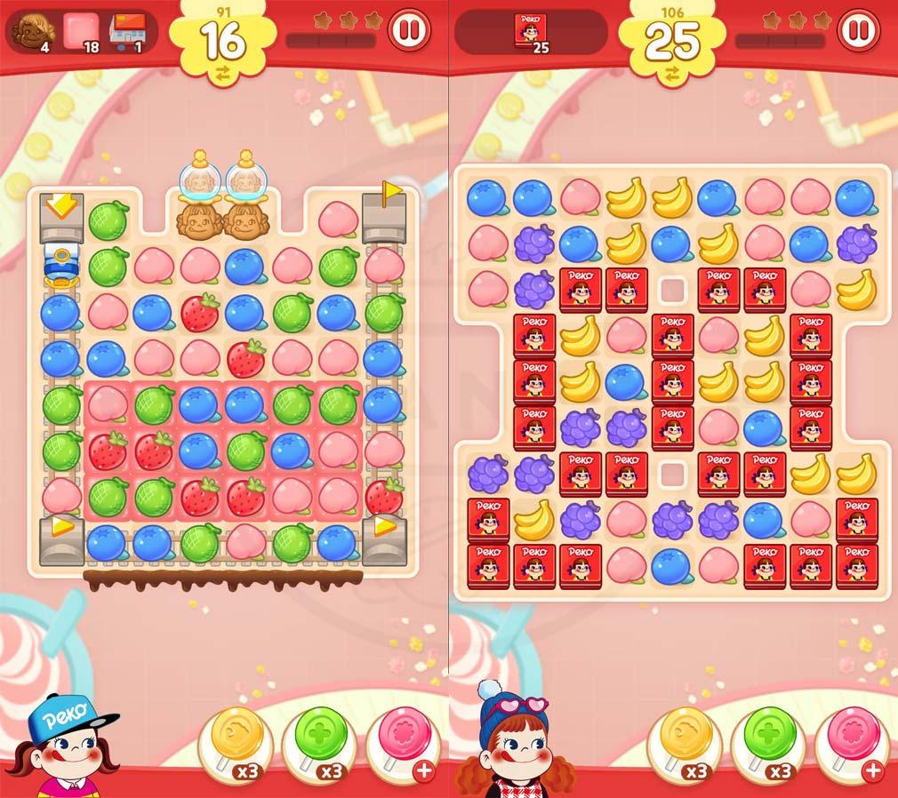 ペコポップ マッチ3パズル パズルプレイスクリーンショット