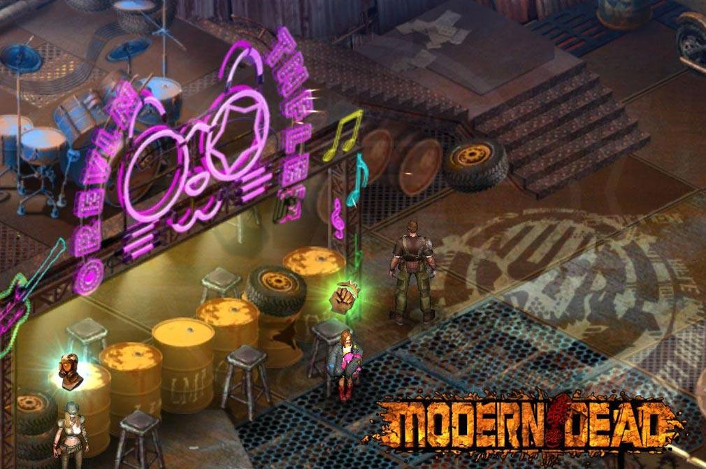 Modern Dead(モダンデッド) 基地にいる住民たちと協力する紹介イメージ