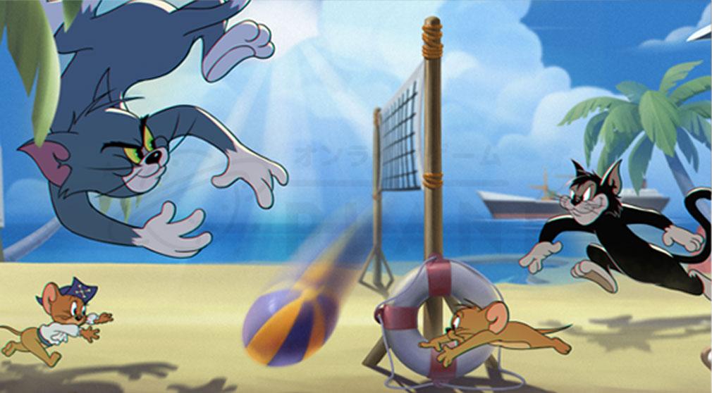 トムとジェリーチェイスチェイス ゲームモード『ビーチバレー』紹介イメージ