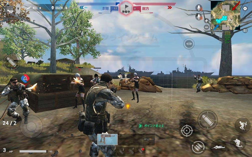 戦陣 -SENJIN- 獲得ポイントを奪い合うスクリーンショット