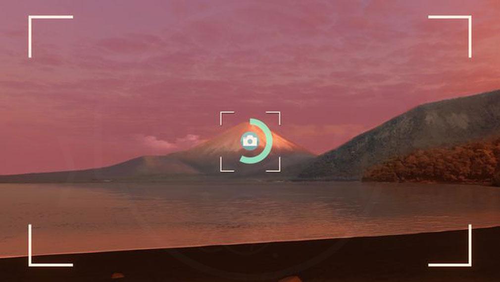 ゆるキャン VIRTUAL CAMP 美しい風景を撮影するスクリーンショット