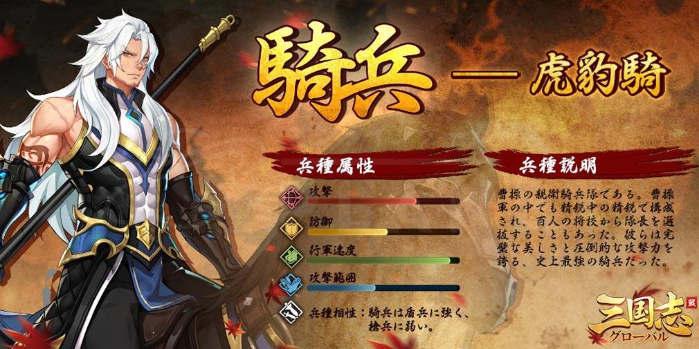 三国志グローバル(三国志G) 『騎兵』紹介イメージ