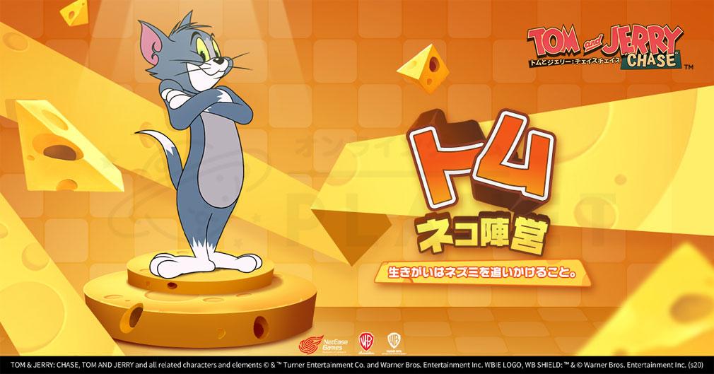 トムとジェリーチェイスチェイス ネコ陣営キャラクター『トム』紹介イメージ