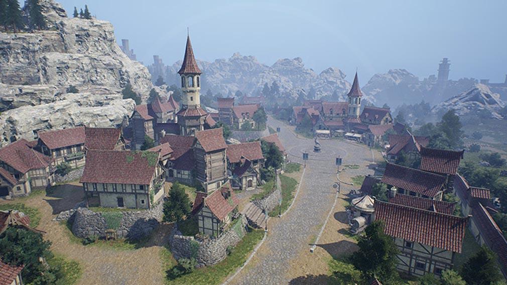 リネージュ2M(Lineage2M)リネツー 『ディオン城の村』スクリーンショット