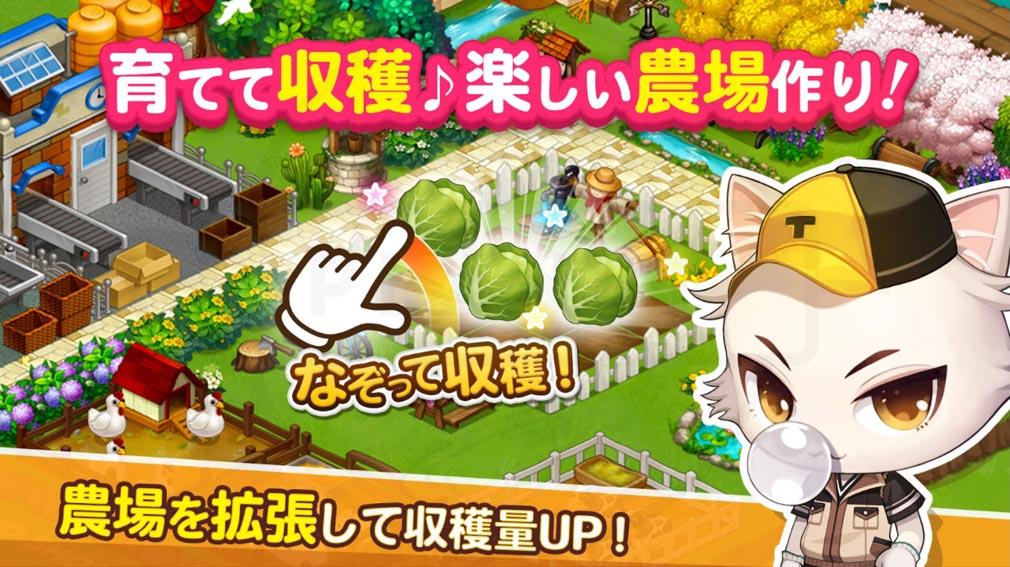 がんばれ!にゃんこ店長 農場で商品を生産する紹介イメージ