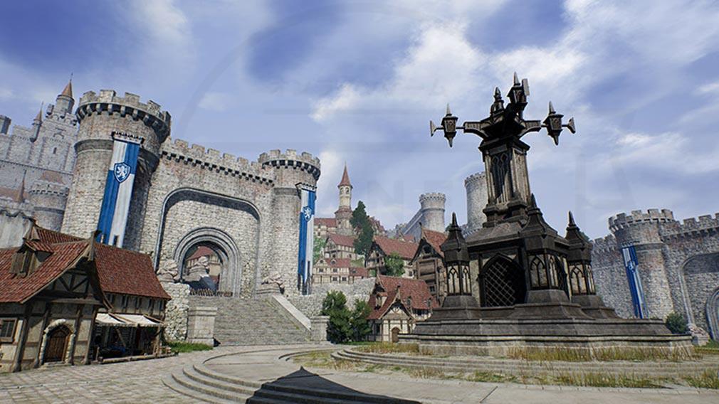 リネージュ2M(Lineage2M)リネツー 『グルーディオ城の村』スクリーンショット