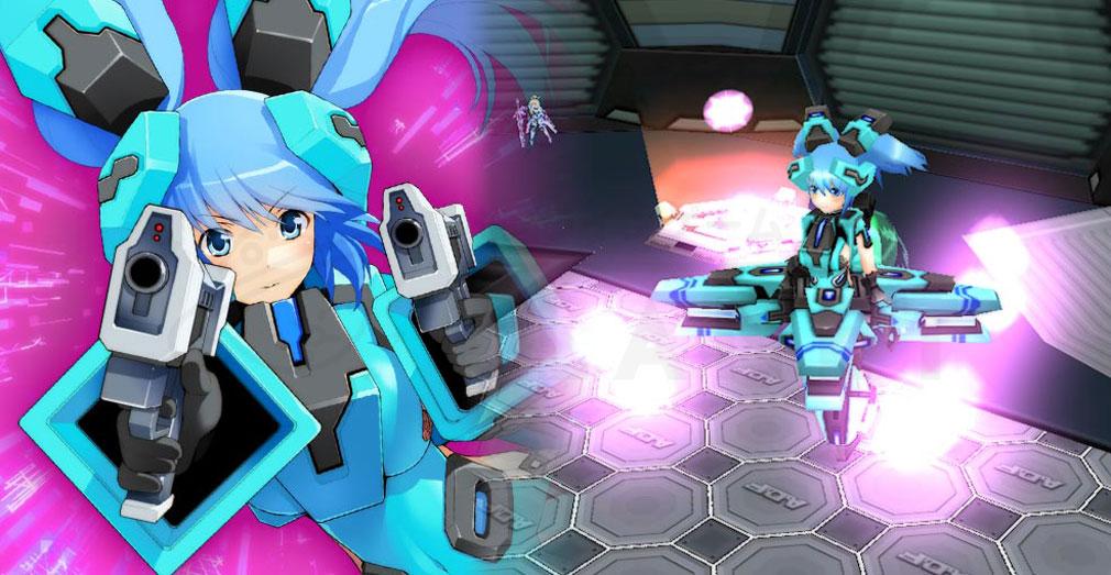 CosmicBreak Universal(コズミックブレイク ユニバーサル)CBUNI 少女機体『ヒューマノイド』のバトルスクリーンショット