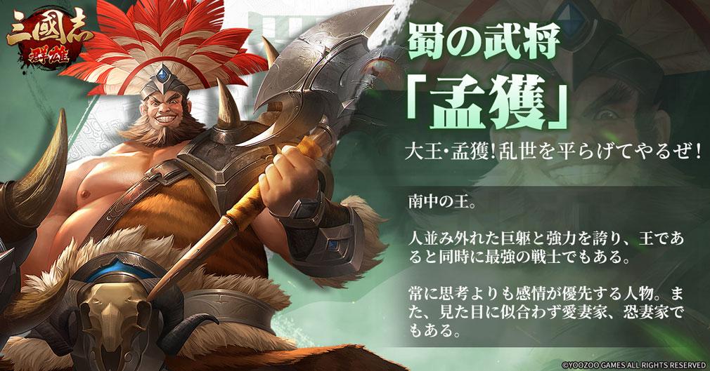 三国志群雄 武将キャラクター『孟獲』紹介イメージ