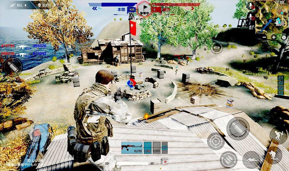 戦陣 -SENJIN- バトルマップ『戦島 -Combat Isle-』の拠点ポイントスクリーンショット
