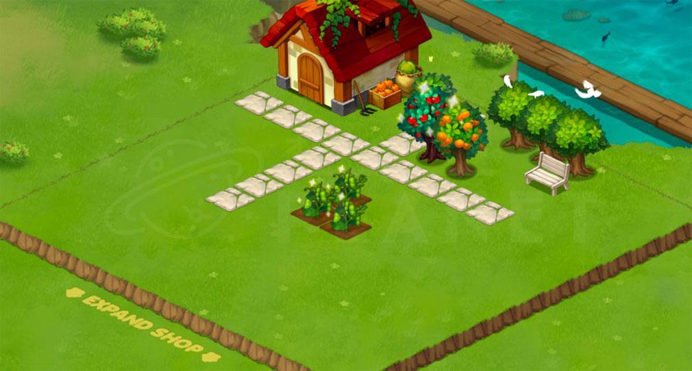 がんばれ!にゃんこ店長 『農園』で作物を育てるスクリーンショット