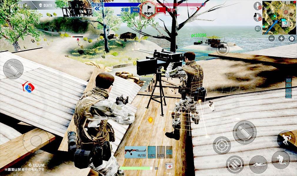 戦陣 -SENJIN- 設置されている『機銃』の使用スクリーンショット