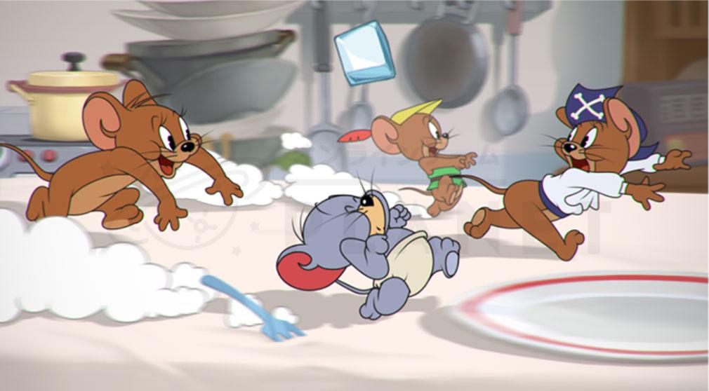 トムとジェリーチェイスチェイス ゲームモード『走れネズミ』紹介イメージ