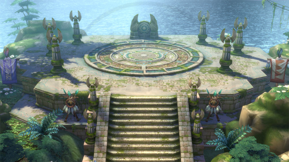 イース6 Online ナピシュテムの匣(Ys6) フィールド『レダの集落』スクリーンショット