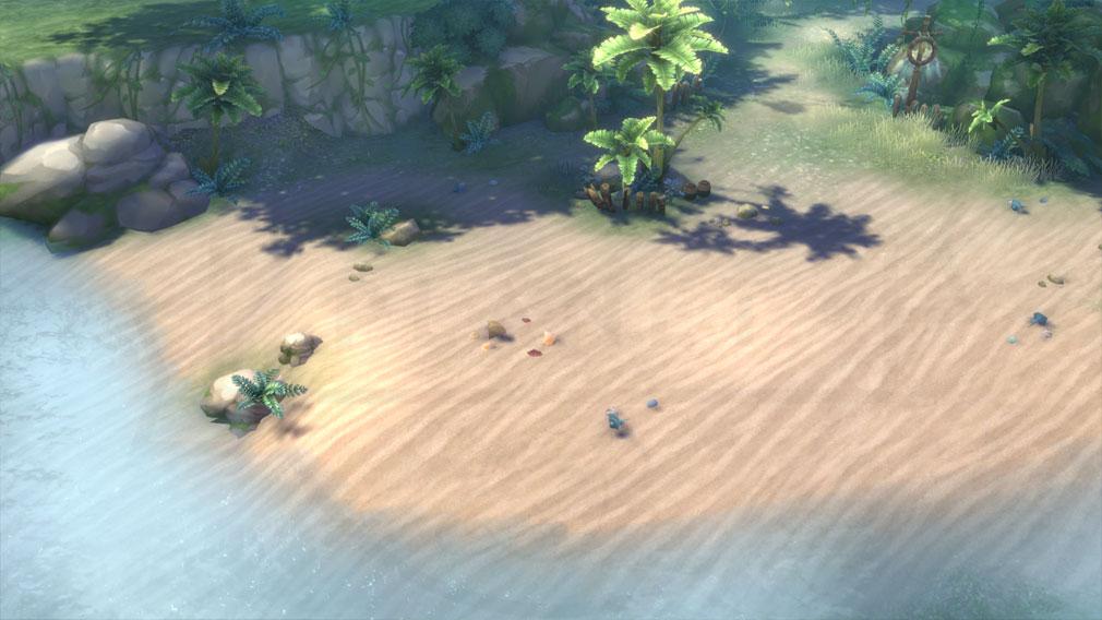 イース6 Online ナピシュテムの匣(Ys6) フィールド『レダの集落』の浜辺スクリーンショット