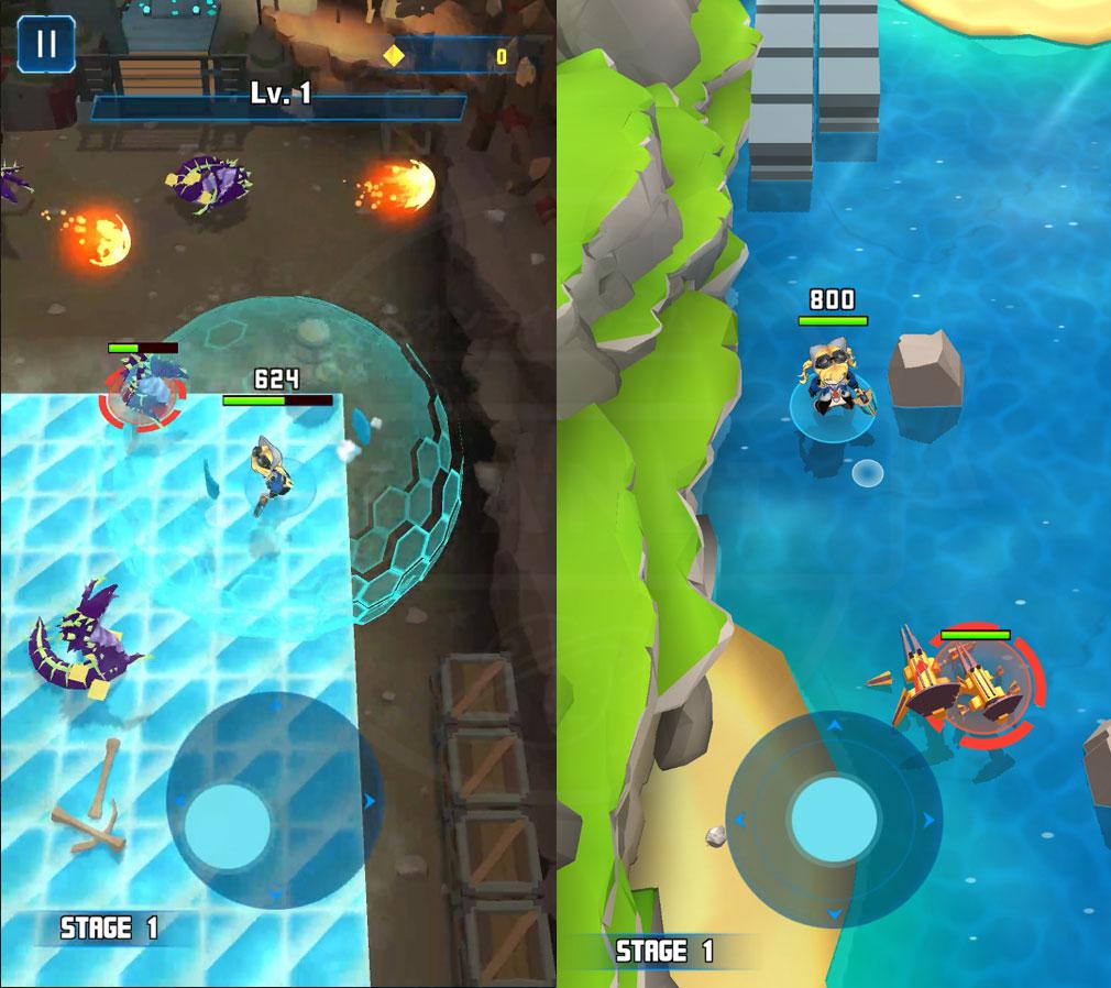 コスモプレイヤーZ 色んなステージのバトルスクリーンショット