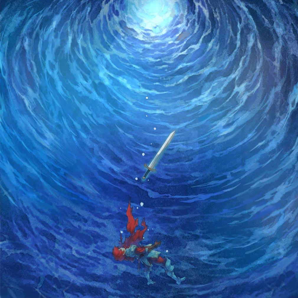 イース6 Online ナピシュテムの匣(Ys6) 海中の大きな渦の中沈んでいく紹介イメージ