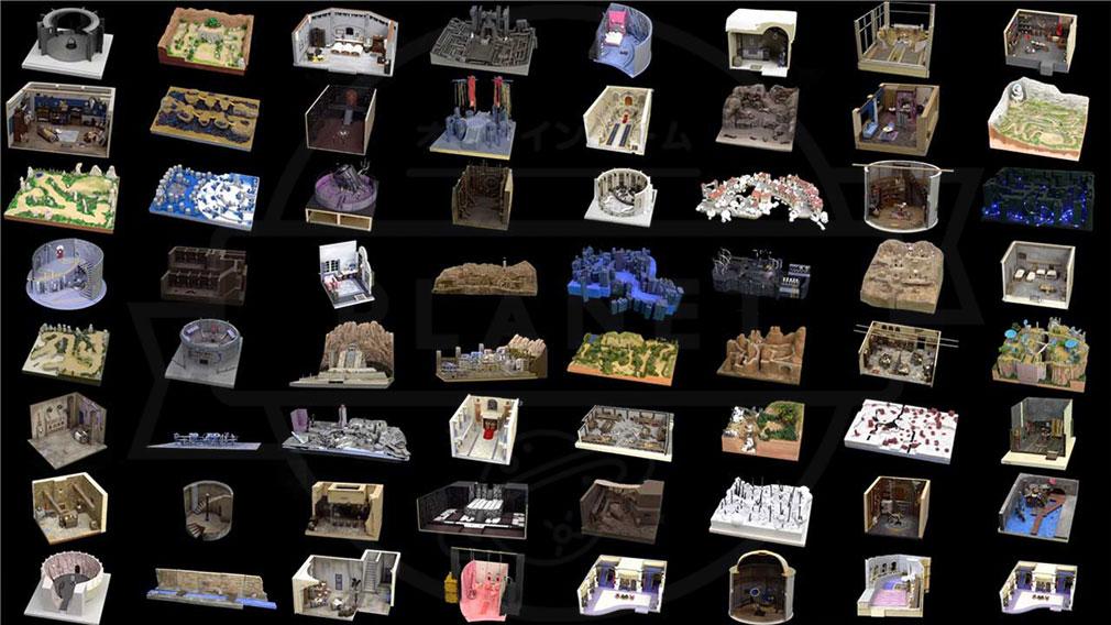 FANTASIAN(ファンタジアン) 制作したゲーム内フィールドのジオラマ模型紹介イメージ