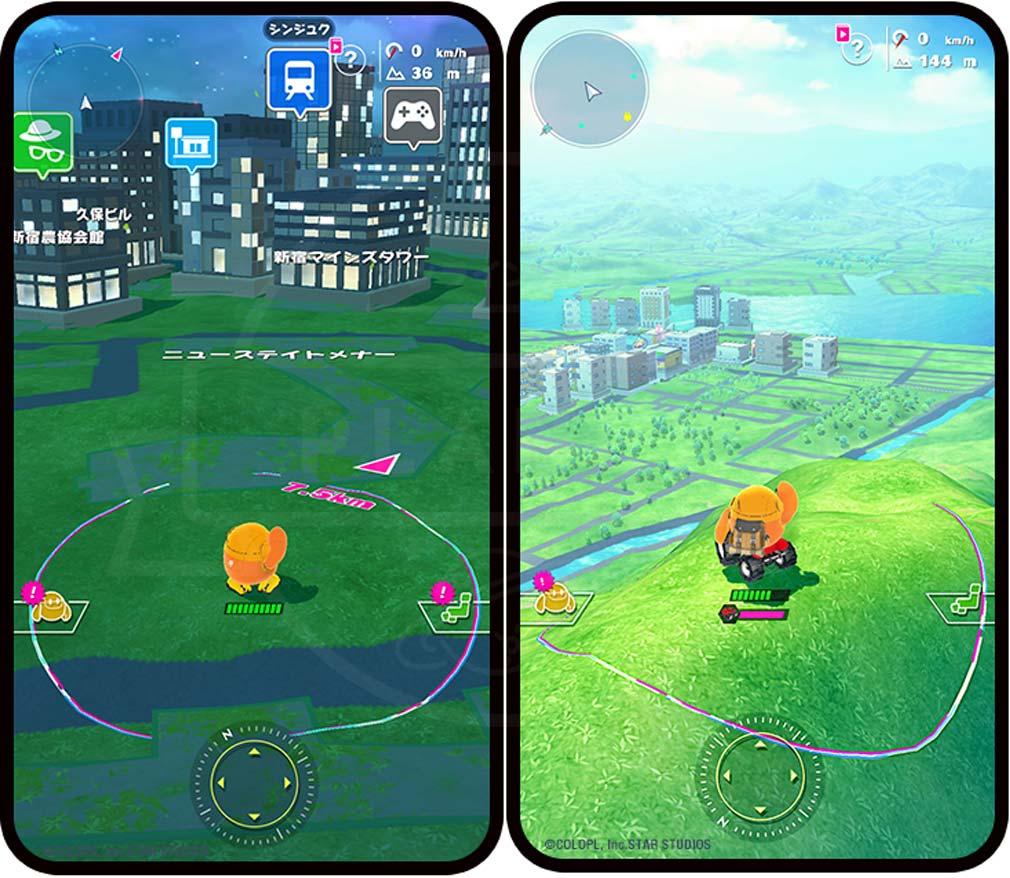 ユージェネ 東京都新宿区、広島県尾道市の地形や高低差を実際のゲーム内で再現しているスクリーンショット