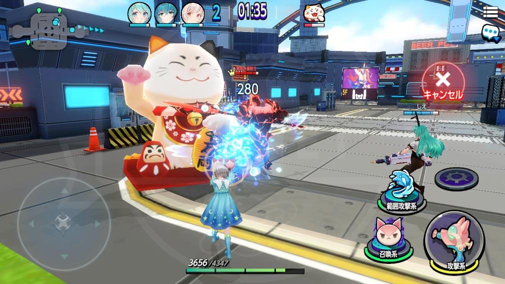 バブル&ドールズ(ばぶどる) 『防衛バトル』スクリーンショット