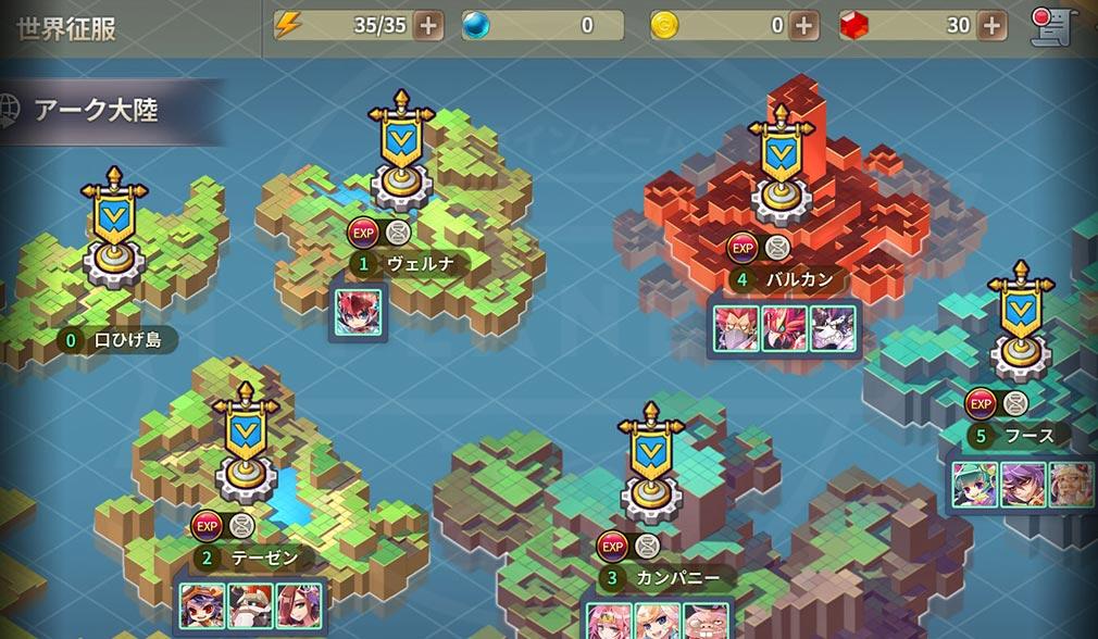 ファンタジーウォータクティクスR(FWTR) ゲームシステム『世界征服』紹介イメージ