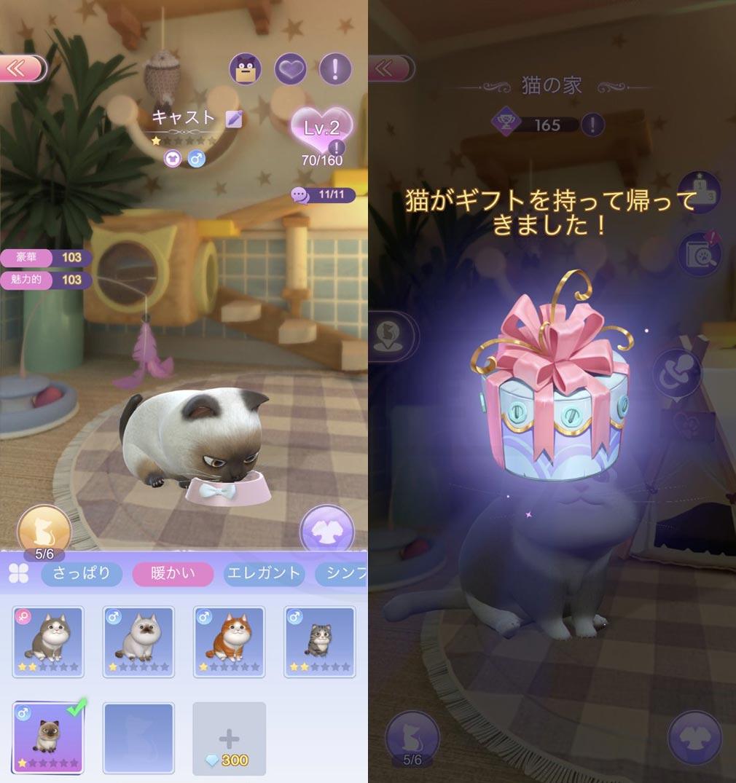 タイムプリンセス(タイプリ) ペットの餌やり、冒険に出してアイテム獲得スクリーンショット