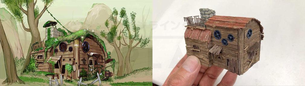 FANTASIAN(ファンタジアン) ジオラマの企画イラスト、ジオラマ制作紹介イメージ