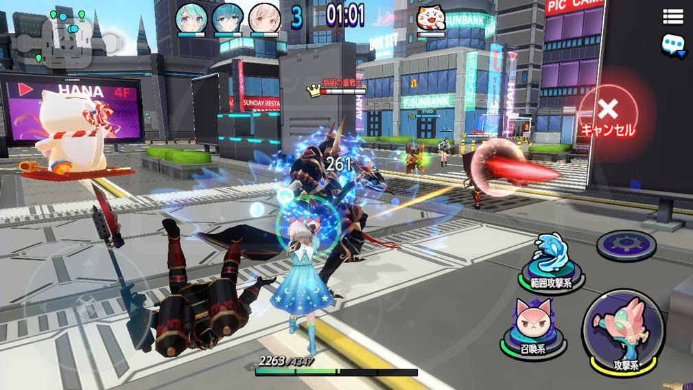 バブル&ドールズ(ばぶどる) 勝ち進むと徐々に敵の強さや襲撃の規模が増していくスクリーンショット