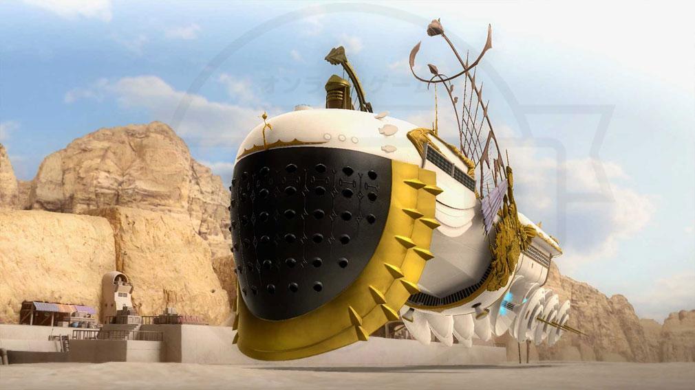 FANTASIAN(ファンタジアン) ゲーム内に実装したジオラマ『飛行船』のスクリーンショット