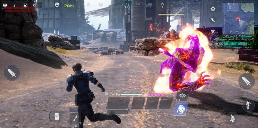 FINAL FANTASY VII THE FIRST SOLDIER(ファイナルファンタジー7 ザ ファーストソルジャー) 召喚獣『イフリート』を召喚して戦うスクリーンショット