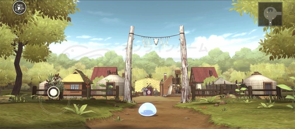 転生したらスライムだった件 魔王と竜の建国譚(まおりゅう) 『リムル』が村に到着するスクリーンショット
