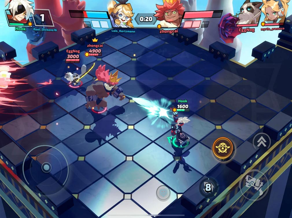 SMASH LEGENDS(スマッシュレジェンド) 浮島に設置されたアリーナから敵をノックアウトするスクリーンショット