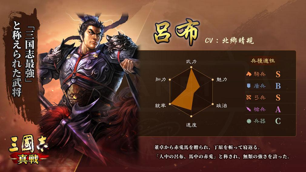 三國志 真戦 キャラクター『呂布』紹介イメージ