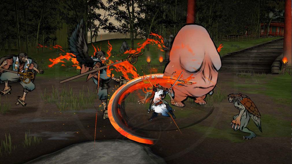 World of Demons 百鬼魔道 妖怪や天狗とのバトルスクリーンショット