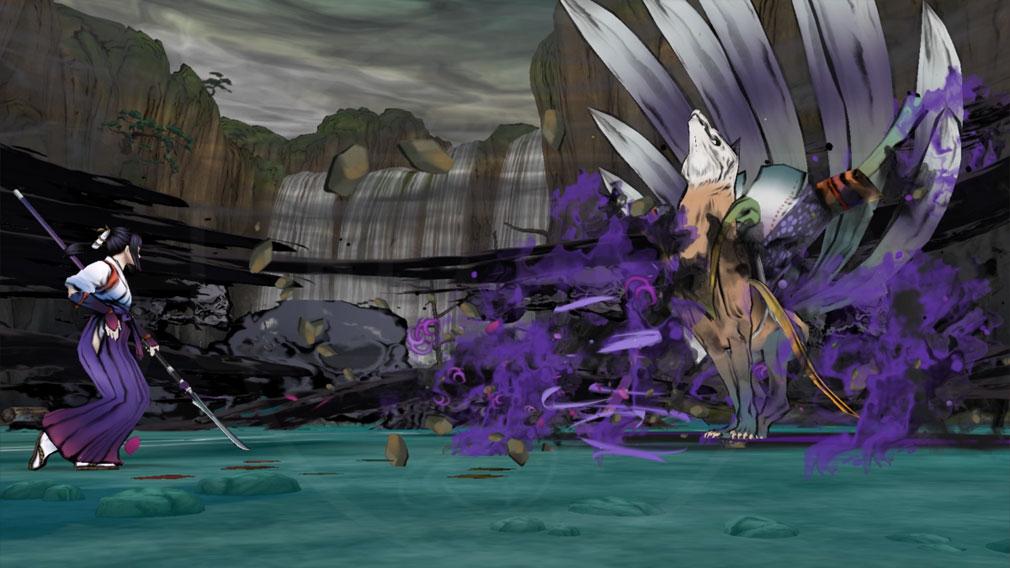 World of Demons 百鬼魔道 九尾とのバトルスクリーンショット