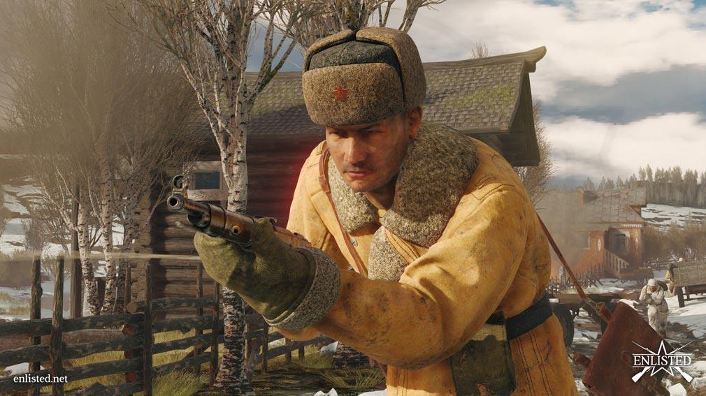 ENLISTED モスクワの戦いでのバトルスクリーンショット