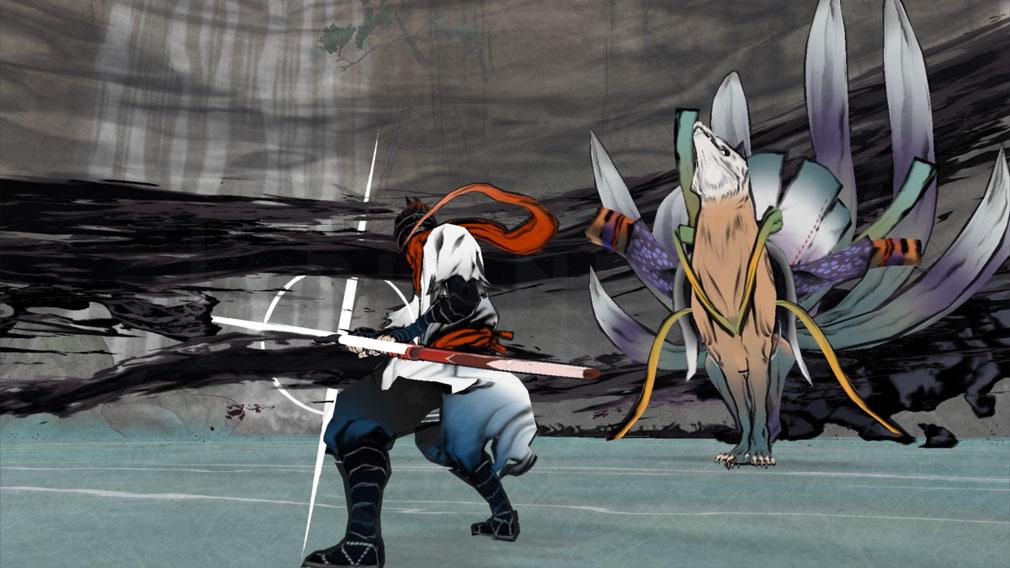 World of Demons 百鬼魔道 巨大妖怪『九尾の狐』バトルスクリーンショット